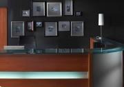 Comptoir d'accueil réception - Dimensions du comptoir en cm  : 120x85x110 - 160x85x110 - 220x85x110