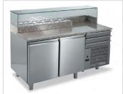 Comptoir inox Pizza - Meuble frigorifique à froid statique