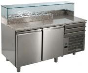 Comptoir inox special TEQUILA - Réfrigération ventilée  2°C /  8°C