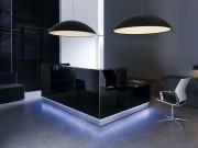 Comptoir lumineux à leds - Leds d'illumination et façade en verre