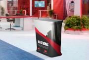 Comptoir pour stand - Dimensions : l 780 x H 970 mm  - structure en aluminium