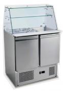 Comptoir réfrigéré inox - Réfrigération ventilée  +2°C/+8°C