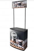 Comptoir stand pour salon - Dimensions : l 795 x H 2075 mm