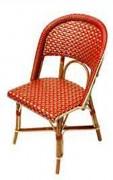 Conception Chaise bistrot - Matériaux de construction : Rilsan et Rotin