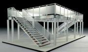 Conception Mezzanine aluminium - Grande Portée : 6 mètres - Charge maximale : 500 kg/m2