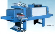 Conditionneuse thermorétractable Fardeleuse - Encombrement machine (L x l x h) : 4200 x 1500 x 1800 mm