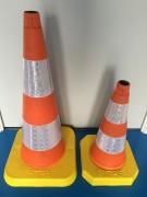 Cône de signalisation monobloc - 2 hauteurs (mm) : 500 / 750 ; Recyclable
