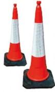 Cône de signalisation rétro-réfléchissant - Hauteurs disponibles :  45 cm - 75 cm