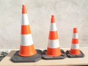 Cône de signalisation routière - 3 Hauteurs (cm) : 50 - 75 - 100