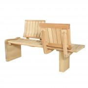 Confident en bois - Dimensions (L x l x H) : 150 x 40 x 45 cm