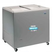 Congélateur inox à couvercle coulissant - Capacité (L) : De 185 à 398 litres / Température : -12 -26 °C