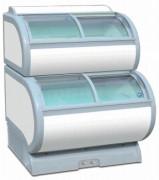 Conservateur à glace vitré double niveau - Froid négatif : - 18 / -25 °C - Capacité nette : 153 L