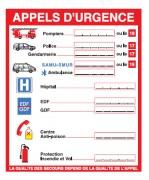 Consigne appel d'urgence - Dimensions : 200 x 240 mm