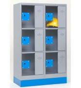 Consigne en acier - Consignes disponible en 4 et 6 cases.