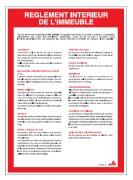 Consigne règlement intérieur d'immeuble