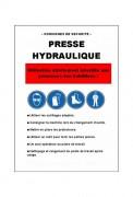 Consignes de sécurité machines - Format A4 (21 x 29.7 cm)