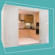 Construction cuisine préfabriquée - Poids spécifique : 1.600 Kg/mc - isolement acoustique : Db 36