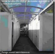 Construction passage couvert - Préaux