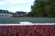 Construction rénovation terrain de tennis en béton - Epaisseur moyenne de 9cm