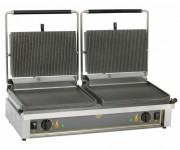 Contact grill panini double - Plaque inférieure rainurée ou lisse