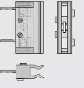 Contacteurs de porte - Portes battantes d'ascenseur