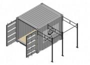 Container crossfit Rig pour entraînement extérieur - Box crossfit traction pour entraînement outdoor