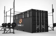 Container crossfit Rig tout terrain pour forces armées OPEX - Container 20' + Rig crossfit à fixer