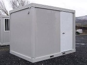Container shelter monobloc