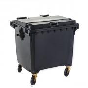Conteneur 4 roues 660 litres - Capacité : 660 litres -Dimensions (LxPxH) : 1370 x 784 x 1215 mm - Matière : Polyéthylène haute densité