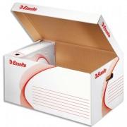 Conteneur à archives ouverture sur le dessus, en carton ondulé kraft blanc - Esselte