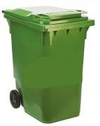 Conteneur à déchets 2 roues 120 à 360 litres - Capacité de charge : 136 kg