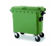 Conteneur à déchets 4 roues silencieuses - Volume : 660 L / 1100 L - 5 coloris disponibles