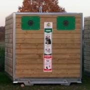 Colonne à déchets avec portes - Pour la collecte des cartons et déchets plâtre