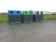 Colonne à déchets en acier - 2 volumes : 4 et 5 M3 (autres volumes possibles)