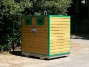 Colonne déchets en bois - 1 ou 2 grandes portes