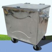 Conteneur à déchets métallique - Volume : 800 – 1000 - 1100 L