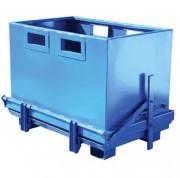 Conteneur à fond ouvrant polyvalent - Capacité de charge : 800 kg, ouverture automatique