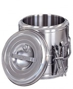 Conteneur alimentaire isotherme en inox - Capacité (L) :  5 - 10 - 15 - 20