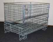 Conteneur cage en fil pliable - Cage de fil pliable - Finition - zinc electropalte