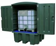 Conteneur de rétention 2 fûts - Nombre de fûts : 2 ou 1 conteneur - Volume : 280 ou 1000 L