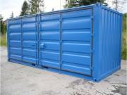 Conteneur de stockage 4 portes - Dimensions extérieures (L x l x H) mm : 6058 x 2438 x 2591