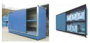 Conteneur de stockage à casiers - Volume de rétention : de 1500 à 4 x 1500 Litres