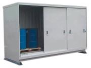 Conteneur de stockage avec rétention - Capacité de rétention : 1500 litres