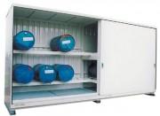 Conteneur de stockage avec rétention 29 m3 - Capacité de rétention : 4 x 1080 litres