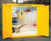 Conteneur de stockage double portes - Capacité de rétention : 3x1047 ou 3x1781 Litres