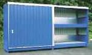 Conteneur de stockage fûts - Charge admissible max par casier : 2400 Kg