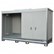 Conteneur de stockage isolé de 4 m linéaires rétention 1500 L - Capacité de rétention : 1500 L