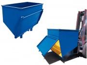 Conteneur déchets à fond incliné - Capacité (L) : De 590 à 1860