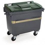 Conteneur déchets sur 4 roues capacité 400/770 litres - Conteneurs en plastique recyclable