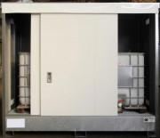 Conteneur DEE Box de stockage grande hauteur Longueur 3m - Conteneur pour extérieur - Grande hauteur : 1950 mm - 3 mètres linéaires avec 2 portes coulissantes - Capacité de rétention : 1100 L